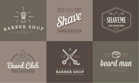 Set of Barber Shop Elements and Shave Shop Icons Illustration Illustration