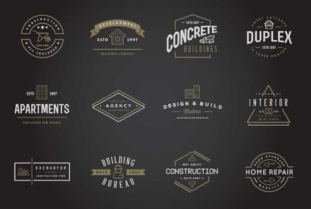 pintor de casas: Conjunto de construcción de iconos del edificio