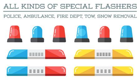 ambulancia: Intermitentes especiales del Departamento de Departamento de Emergencia