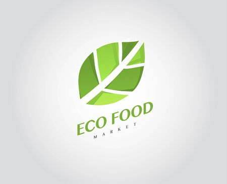 food market: Eco Organic Health Food Market Template Products Green Icon
