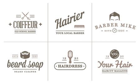 barbershop pole: Set of Barber Shop Elements