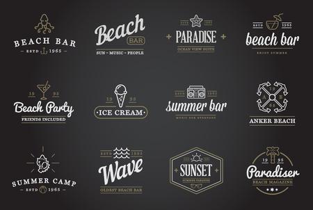 old bar: Set of Beach Sea Bar Elements