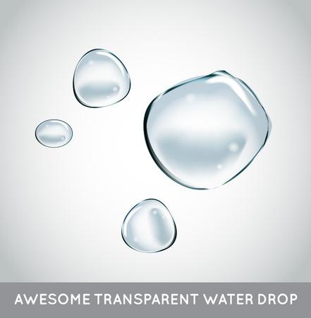 burbujas de jabon: Burbujas de jabón de agua fijado. Vectores