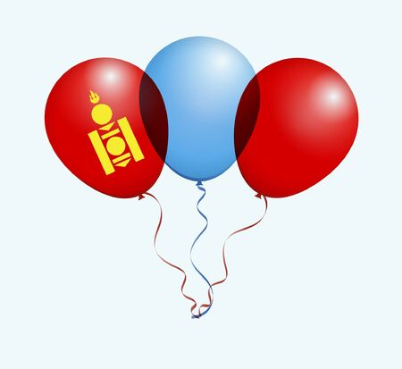 Balloons as Mongolia National Flag