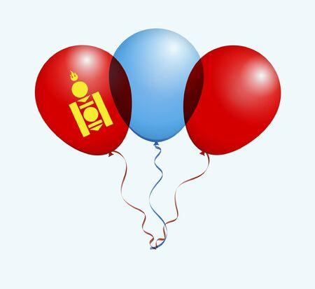 flotation: Balloons as Mongolia National Flag