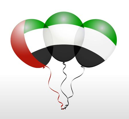 balloons: Balloons as United Arab Emirates National Flag Illustration