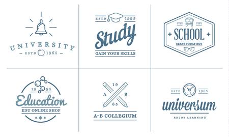 Set of Education Icons Illustration Vector Illustration