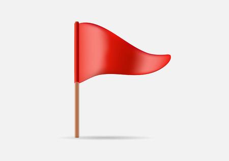 three cornered: Red Triangular Waving Flag Icon
