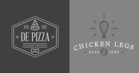 enormous: Set of Fastfood Fast Food Elements Icons and Equipment as Illustration