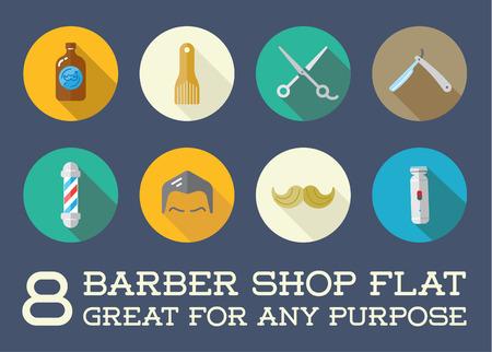 shave: Set of Barber Shop Elements and Shave Shop Icons Illustration Illustration