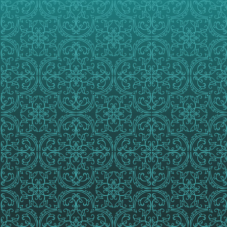 middleeast: Seamless Damask Background Pattern Design and Wallpaper Made of Turkish Texture Ceramic Tiles