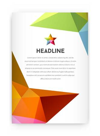 visual: Visual identity with letter elements polygonal style