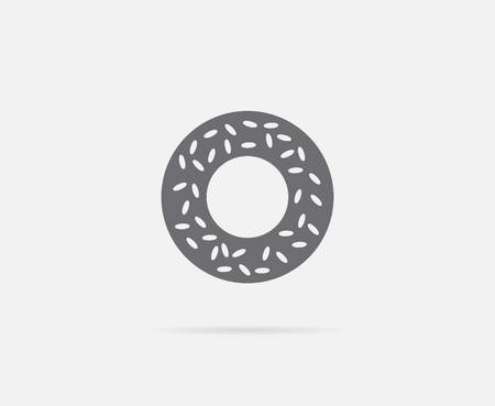 Bagel with Sesame Element or Icon