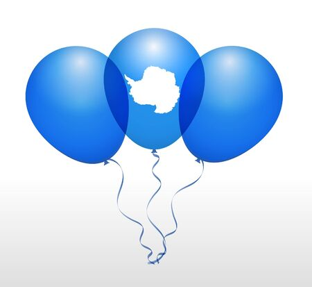 antarctica: Balloons as Antarctica National Flag