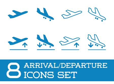 Aircraft oder Airplane Icons Set Sammlung