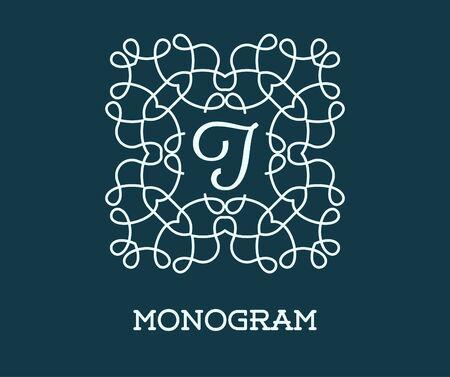Monogram Design Template with Letter J Illustration Premium Elegant Quality