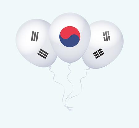flotation: Balloons as South Korea National Flag