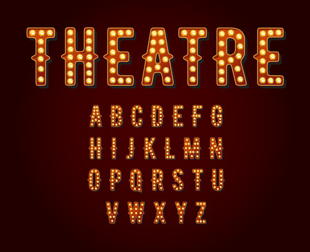 theatre symbol: Casino or Broadway Signs style light bulb Alphabet