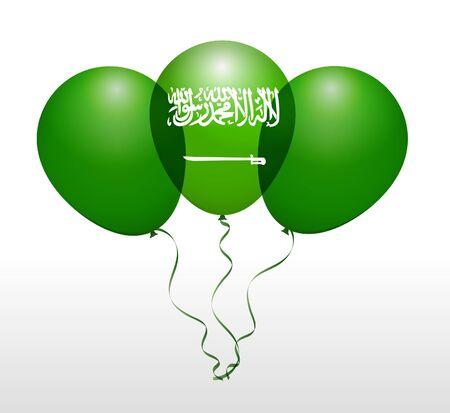 Balloons as Saudi Arabia National Flag