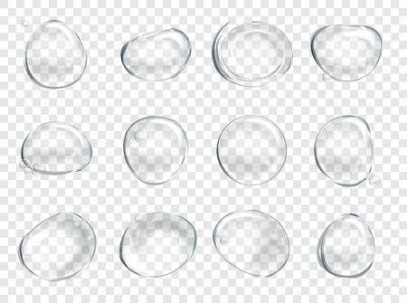 Zeep Water Bubbles Set. Stock Illustratie