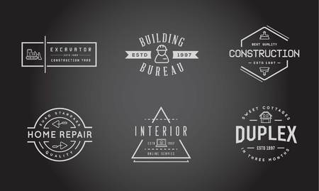 house painter: Set of Construction Building Icons Illustration
