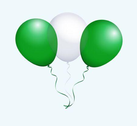 flotation: Balloons as Nigeria National Flag