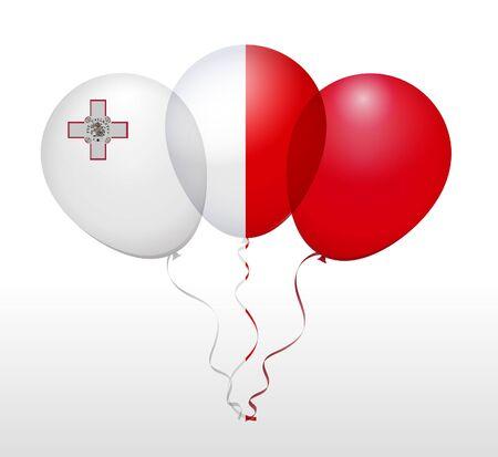 float fun: Balloons as Malta National Flag