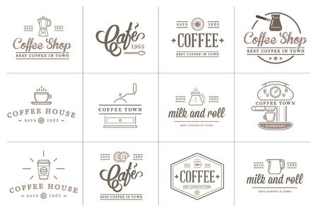 Set di caffè Elements e Accessori Caffè Illustrazione Archivio Fotografico - 50179150