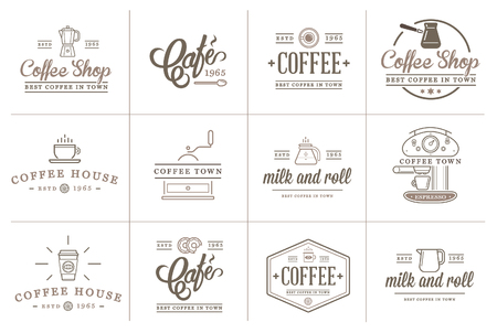 Set of Coffee Elements and Coffee Accessories Illustration Ilustrace