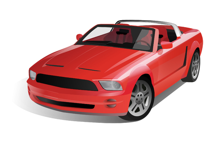 Sports Muscle Car Illustration