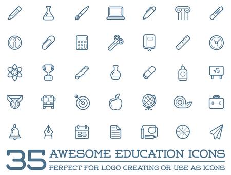 Set of Education Icons Illustration Illustration