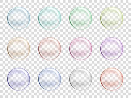 Burbujas de jabón de agua fijado.