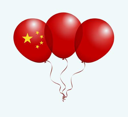 flotation: Balloons as China National Flag