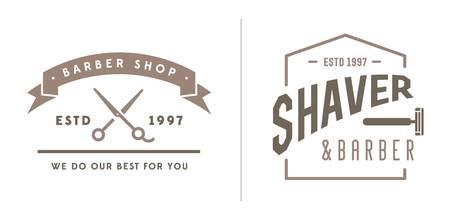 tijeras: Conjunto de la peluquer�a de caballeros Elementos y Shave compras los iconos Ilustraci�n Vectores