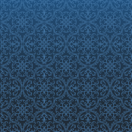 repeating background: Seamless Damask Background Pattern Design and Wallpaper Made of Turkish Texture Ceramic Tiles