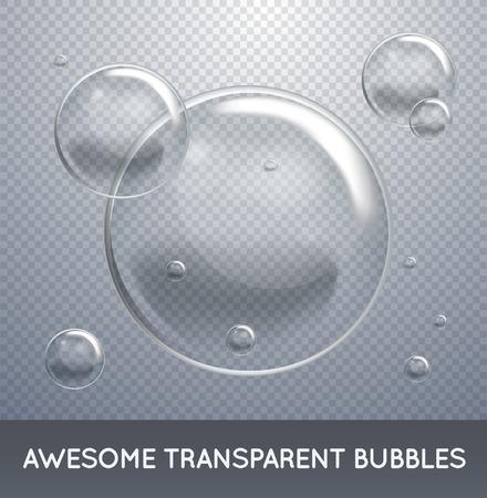 石鹸水の気泡。