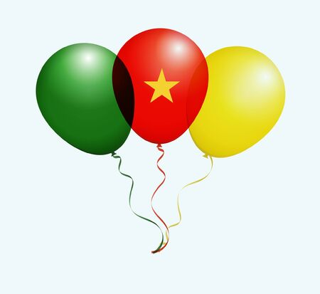 cameroon: Balloons as Cameroon National Flag