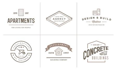 home builder: Set of Construction Building Icons Home and Repair can be used as Logo or Icon in premium quality Illustration