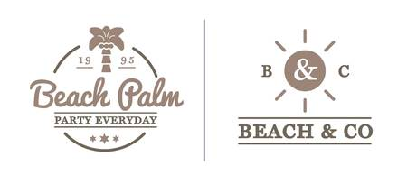 old bar: Set of Beach Sea Bar Elements and Summer can be used as Logo or Icon in premium quality Illustration