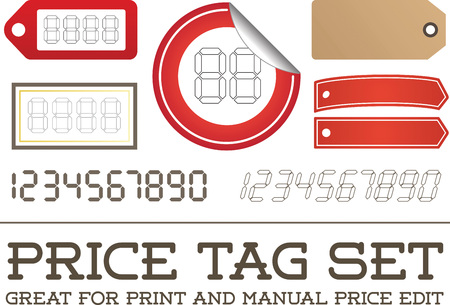 enable: Vector Price Tag Set enable for print or manual price edit
