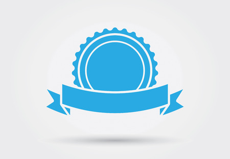 medal ribbon: Pictogram icon vector for award