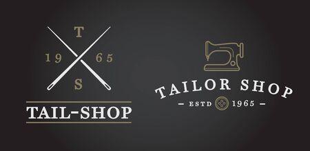 Set van Vector Tailoring Tailor Sew Elements en naaien breien Illustratie