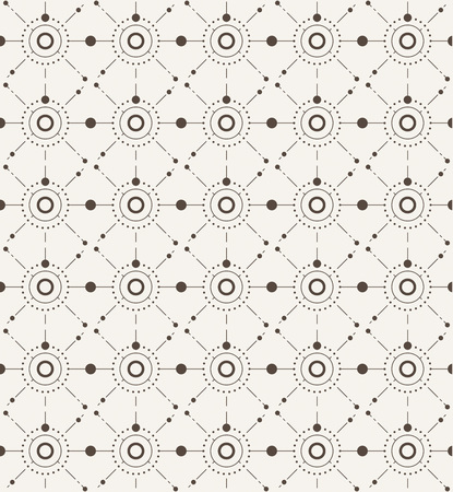 variously: Vector seamless pattern with modern stylish texture repeating geometric background with circles variously sized in nodes Illustration