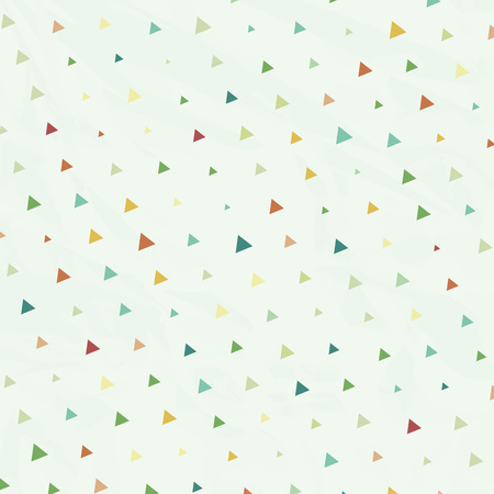 but: Vintage Polka Dots but Triangles in Vector