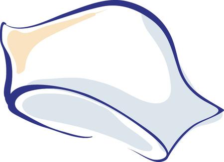 registered nurse: Nurse Hand Drawn Cap or Hat Vector Icon Illustration Illustration