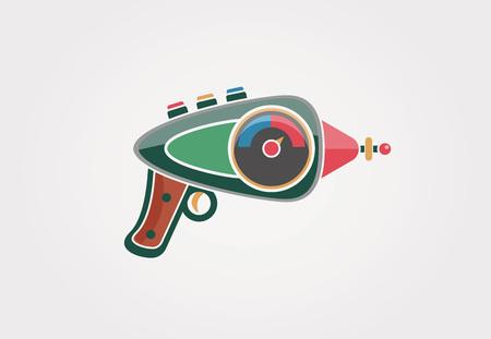 ray gun: Ray gun cartoon. Supergun. Vector