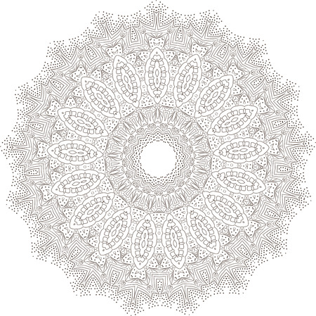 design visionary: Ethnic Fractal Mandala Vector Meditation looks like Snowflake or Maya Aztec Pattern or Flower too Isolated on White