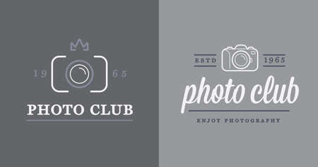 photo icon: Set of Vector Photo Camera Photography Elements and Video Camera Icons Illustration