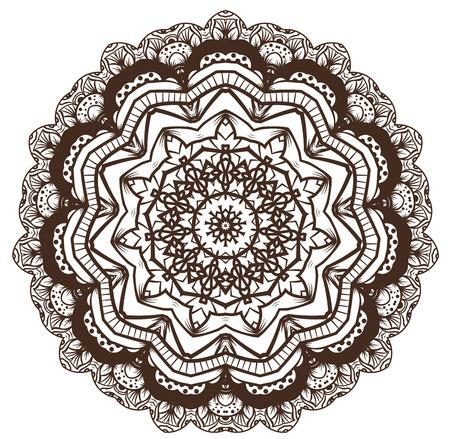 visionary: Ethnic Fractal Mandala Vector Meditation looks like Snowflake or Maya Aztec Pattern or Flower too Isolated on White