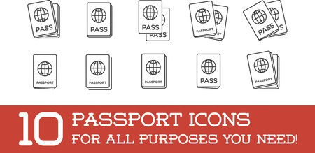 citizenship: Set of Citizenship or Foreign Passport ID in Vector